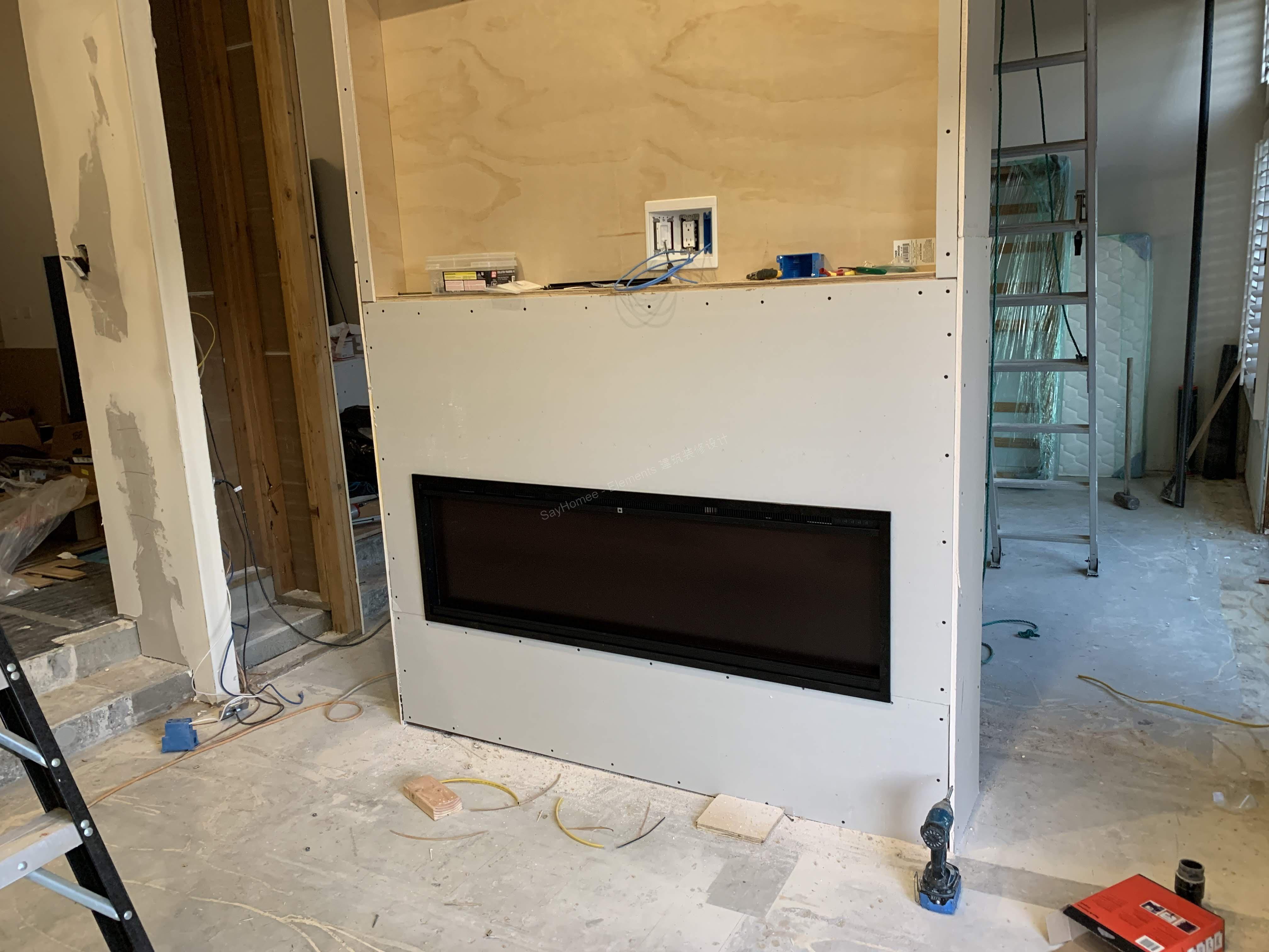 定制书架、电视墙